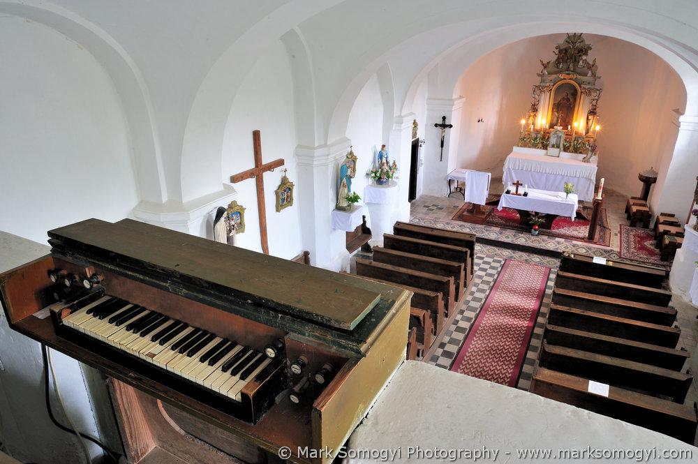 Szent Máté-templom karzatán, az orgona. Fotó: Somogyi Márk - www.somogyimark.hu